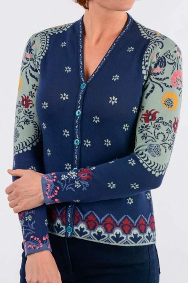 Ivko Floral Pattern Cardigan