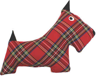 One Kings Lane Plaid Plush Dog Toy - Red/Black