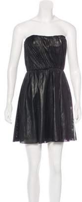 A.L.C. Leather Perforated Sleeveless Mini Dress