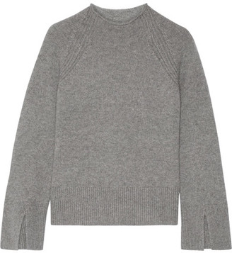 Theory - Karinella Cashmere Sweater - Gray $425 thestylecure.com