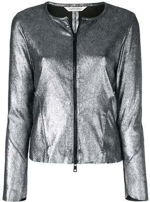 Giorgio Brato metallic zipped jacket