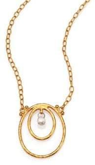 Gurhan Hoopla Diamond& 24K Yellow Gold Pendant Necklace