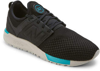 New Balance Black & Turquoise 247 Knit Sneakers