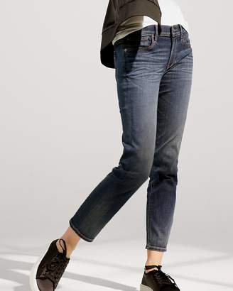 Express Mid Rise Straight Stretch Jeans
