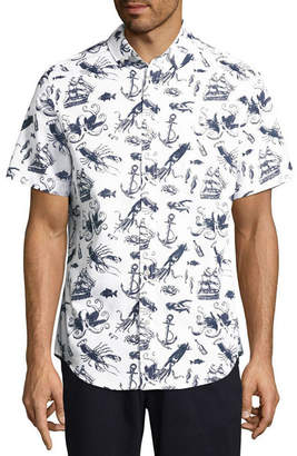 ST. JOHN'S BAY Short Sleeve Button-Front Shirt