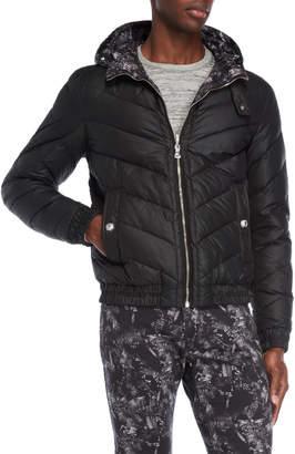 Versace Hooded Down Reversible Coat