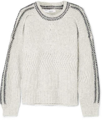 IRO Beeb Layered Chunky-knit Sweater - Gray