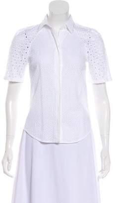 Trina Turk Short Sleeve Button-Up Top