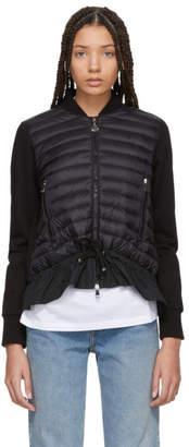 Moncler Black Jersey Cardigan Jacket