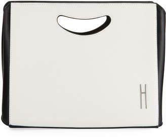 Hayward 1712 Two-Tone Basket Clutch Bag