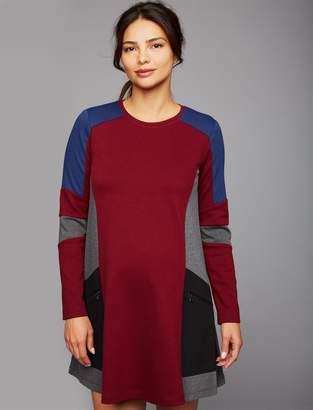 BCBGMAXAZRIA Pea Collection Gigi Colorblock Maternity Dress
