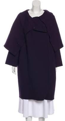 Alberta Ferretti Wool-Blend Knee-Length Coat