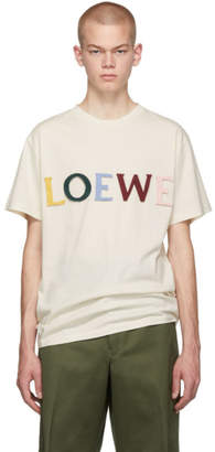 Loewe Off-White Silk Cut T-Shirt