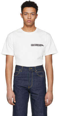 Calvin Klein White Text Logo T-Shirt