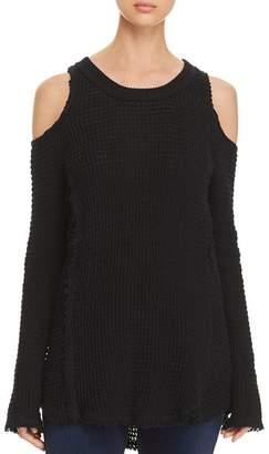 Elan International Cold-Shoulder Sweater