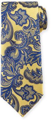 Ermenegildo Zegna Floral Vine-Print Silk Tie $195 thestylecure.com
