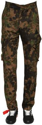 Off-White Camo Printed Cotton Cargo Pants