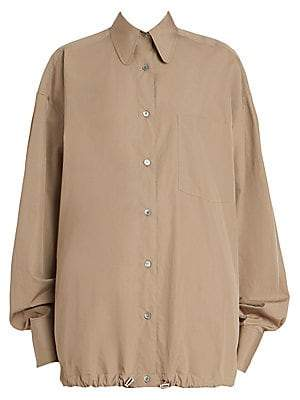 Dries Van Noten Women's Oversize Button-Down Shirt