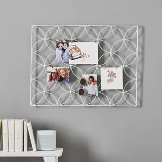 Pottery Barn Teen Floral Wire Photo Grid, White