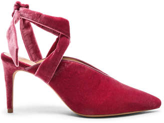 Alexandre Birman Velvet & Suede Sally Ankle Tie Pumps