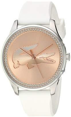 Lacoste 2000969 Women's Victoria Quartz Stainless Steel Silicone Strap Watch (White)