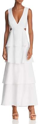 Bardot Cutout Tiered Maxi Dress
