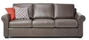 Home Studio Bradford 88 inch rolled-arm leather sofa