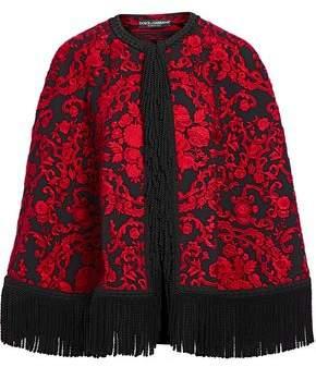 Dolce & Gabbana Fringed Brocade Cape
