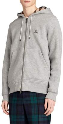 Burberry ZIP-UP SWEATSHIRT HOODIE W/ CHECK LINING