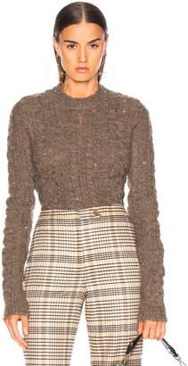 Acne Studios Long Sleeve Crop Sweater