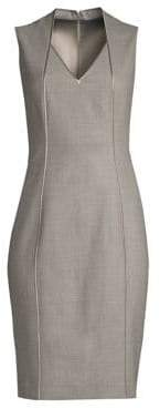 Elie Tahari Wendolyn Stretch Wool Sheath Dress