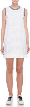 Love Moschino White Eyelet Shift Dress