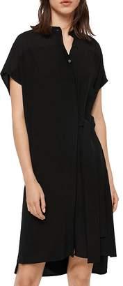 AllSaints Willow Tie-Waist Shirt Dress