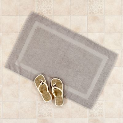 Grey Bamboo/Cotton Bath Mat