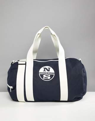 North Sails Large Duffle Bag With Logo In Navy