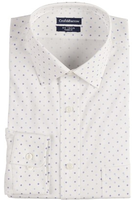 Croft & Barrow Men's Regular-Fit Spread-Collar No-Iron Stretch Dress Shirt