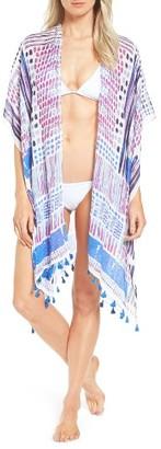 Women's Caslon Print Tassel Wrap $29 thestylecure.com