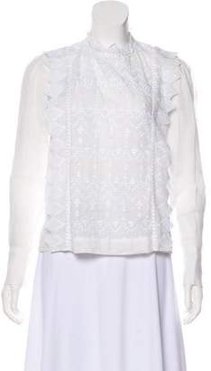 Isabel Marant Long Sleeve Embroidered Top