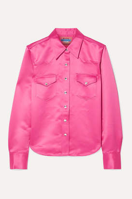 Acne Studios 2002 Satin Shirt - Pink