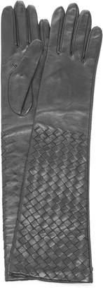 Bottega Veneta Long Woven Leather Gloves Size: 7