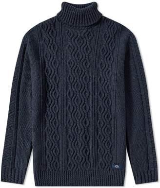 Bleu De Paname Bleu de Paname Irish Cable Roll Neck Knit