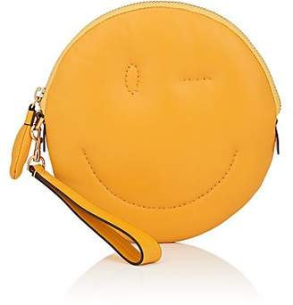 Anya Hindmarch Women's Chubby Wink-Face Leather Clutch