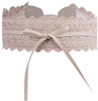 SESY Women's Bowknot Lace Waist Belt Self Tie Wrap Corset Waist Band Boho Belt ...