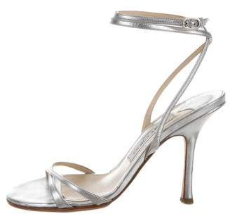 Jimmy Choo Leather High-Heel Sandals