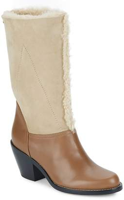 Chloé Women's Kurtis Shearling & Suede Mid-Calf Boots