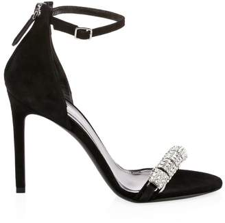 ff5d0d6f781e Calvin Klein Camelle Jeweled Suede Ankle-Strap Sandals