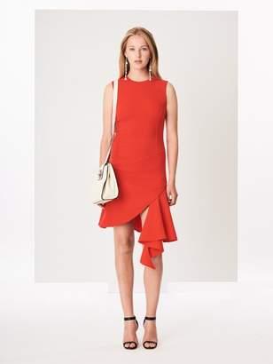 80f981a71f7 Oscar de la Renta Asymmetric Stretch-Wool Crepe Dress