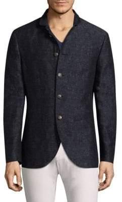 John Varvatos Slim-Fit Floral Jacquard Jacket