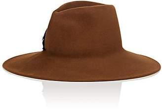 Lola Hats Women's Bullseye Fur-Felt Fedora - Brown