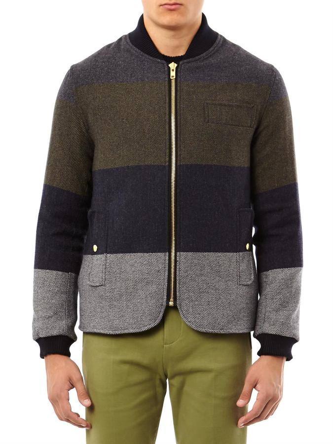 Oliver Spencer Lambeth paneled wool jacket